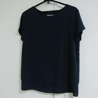 セオリーリュクス(Theory luxe)の美品 セオリーリュクス ウォッシュブル ブラウス 38 ネイビー(シャツ/ブラウス(半袖/袖なし))
