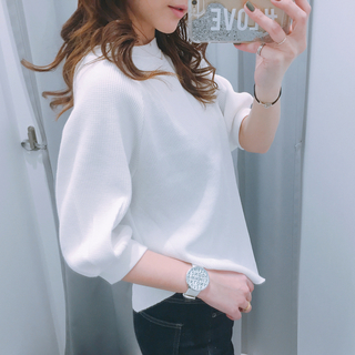 ジーユー(GU)のGUワッフルTシャツ(Tシャツ(半袖/袖なし))