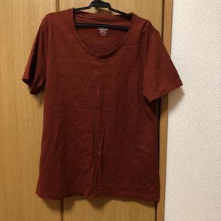 ジーユー(GU)のレンガ色Tシャツ(Tシャツ(半袖/袖なし))