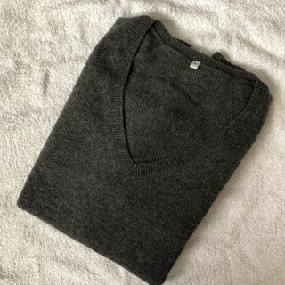 ムジルシリョウヒン(MUJI (無印良品))の【新品】無印良品 カシミヤVネックセーター(ニット/セーター)