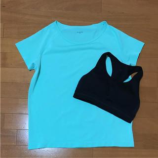ジーユー(GU)のGUスポーツ Tシャツ スポーツブラ(ウェア)