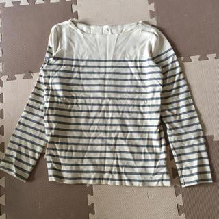 ムジルシリョウヒン(MUJI (無印良品))の美品 無印 ボーダーカットソー(Tシャツ(長袖/七分))