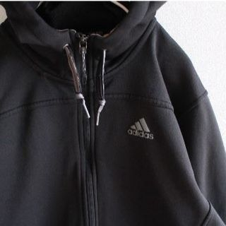 c67b36dbb63cf7 アディダス(adidas)のUS アデイダス climawarm 撥水 ジップ パーカー black M(パーカー
