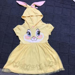 シマムラ(しまむら)の女の子 ミスバニーチュールワンピース 110センチ Disney(ワンピース)