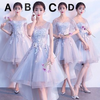 即購入ok ドレス 結婚式 披露宴 レース 膝丈ドレス パーティードレス(ミディアムドレス)