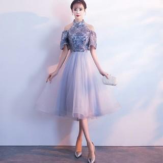 即購入ok ドレス ミモレ丈 レース 膝丈ドレス パーティードレス ワンピース(ミディアムドレス)