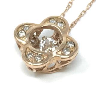 10db6afa7e01 ヨンドシー(4℃)のダンシングストーン ネックレス ダンシングダイヤモンド k10 ダイヤモンド(ネックレス)