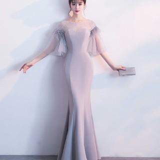 即購入ok ロング丈ドレス マーメイドドレス 二次会 ロング丈ワンピース(ロングドレス)