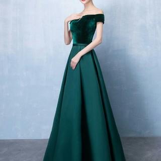 即購入ok パーティードレス オフショル ロング丈ワンピース ロングドレス(ロングドレス)