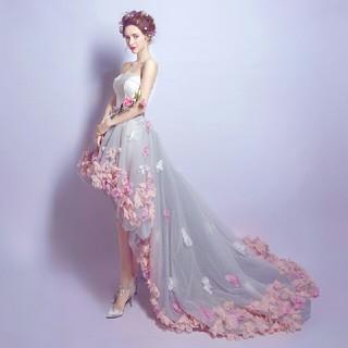 即購入ok ドレス オフショル ウエディングドレス XS-3XL 刺繍(ロングドレス)