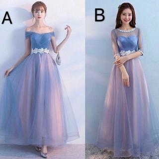 即購入ok ロング丈ドレス パーティードレス XS~3XL(ロングドレス)