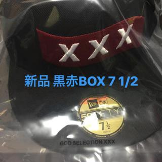 新品 黒赤 7 1/2 GOD SELECTION XXX NEW ERA(キャップ)