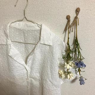 ジーユー(GU)のレースシャツ..(シャツ/ブラウス(半袖/袖なし))