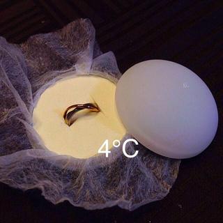 ヨンドシー(4℃)の4℃ GOLD×Silverコンビリング(リング(指輪))