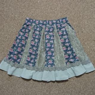 アクシーズファム(axes femme)のアクシーズファム☆花柄スカート(ひざ丈スカート)