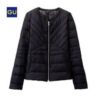 ジーユー(GU)のGU ライト中綿ノーカラージャケット(ダウンジャケット)