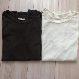 ジーユー(GU)のGU袖なしシャツ2枚セット❤︎美品(Tシャツ(半袖/袖なし))