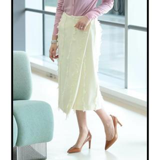 デミルクスビームス(Demi-Luxe BEAMS)の市川実和子着用 フリンジラップスカート デミルクスビームス (ひざ丈スカート)