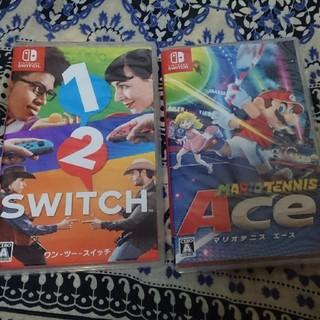 ニンテンドウ(任天堂)の1 2 スイッチ マリオテニスエース2本セット中古(家庭用ゲームソフト)