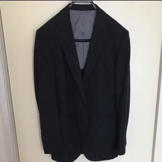 PSFA ブラック シャドーストライプ メンズジャケット  170 AB5サイズ(スーツジャケット)