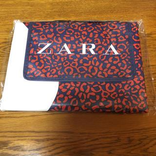 ザラ(ZARA)のZARA ノベルティ ピクニックシート マット ヒョウ柄 ネイビー(ノベルティグッズ)