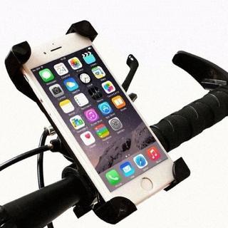 【自転車/バイク】スマホホルダー★360度回転★サイズ調整可★コンパクト(その他)
