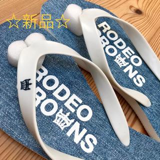 ロデオクラウンズ(RODEO CROWNS)の新品 RODEO CROWNS ロデオクラウンズ ビーサン L(ビーチサンダル)