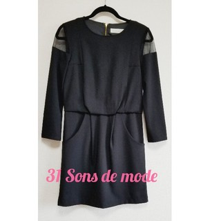 【お値下げ】31 Sons de mode 黒 ワンピース