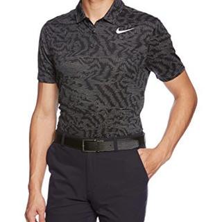 ナイキ(NIKE)のナイキ ゴルフ DRI-FIT ジャガード ショートスリーブポロ Lサイズ 黒(ウエア)