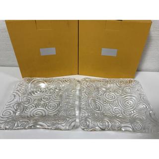 スガハラ(Sghr)の新品 Sghr スガハラガラス 17cm深皿クリアープレート2枚セット(食器)