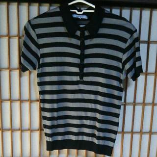 アバハウス(ABAHOUSE)のABAHOUSE 半袖ポロシャツ サイズ2 アバハウス ボーダー カットソー 服(ポロシャツ)