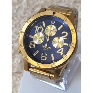 ニクソン(NIXON)のNIXON ニクソン 腕時計 48-20 A486-1922 Gold/Blue(腕時計(アナログ))