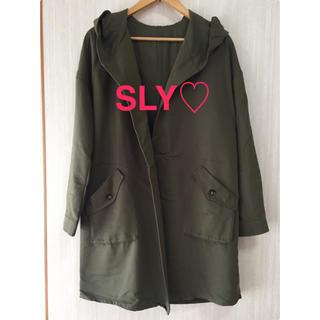 スライ(SLY)のSLY   薄手コート♡  美品です!   最終お値下げします(モッズコート)