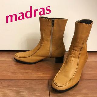マドラス(madras)のmissy madras 柔らか上質ヌバックレザーショートブーツ(ブーツ)