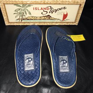 アイランドスリッパ(ISLAND SLIPPER)の【新品】ISLAND SLIPPER★ROYAL BLUE★Size7/25cm(サンダル)