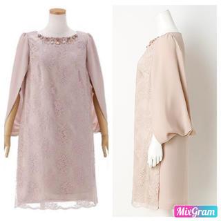 ローズティアラ(Rose Tiara)の新品 バックドレープケープ風ドレス ローズティアラ  38(ミディアムドレス)