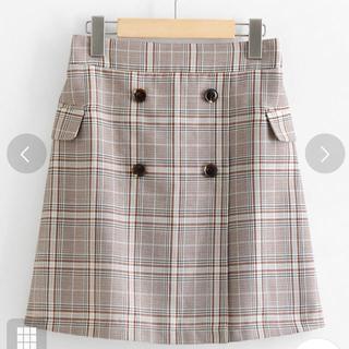 マジェスティックレゴン(MAJESTIC LEGON)のチェック柄Aラインスカート(ミニスカート)