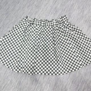 シマムラ(しまむら)のブロックチェック♡スカート インナーパンツ付き!140(スカート)