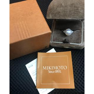 ミキモト(MIKIMOTO)のミキモト あこや真珠Pt950ダイヤリング(リング(指輪))