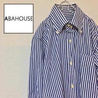 アバハウス(ABAHOUSE)の日本製 abahouse アバハウス メンズ ボタンダウンシャツ 長袖 ワッフル(シャツ)