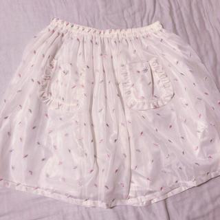 ケイティー(Katie)のKatie♡ハート刺繍ミニスカート(ミニスカート)