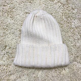 ジーユー(GU)の白いニット帽❤︎(ニット帽/ビーニー)