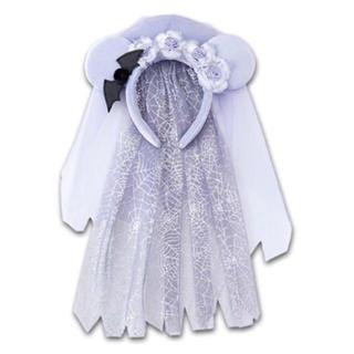 ディズニー(Disney)の花嫁 カチューシャ ディズニー ハロウィン コスプレ dハロ 花 ベール(カチューシャ)