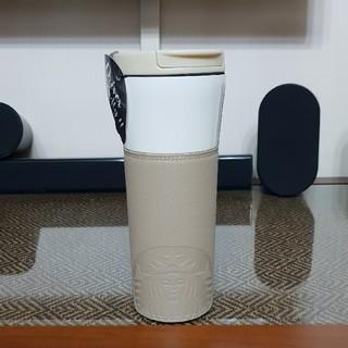 スターバックスコーヒー(Starbucks Coffee)のスターバックス★DT SS ブラウン レザー スリーブ タンブラー/海外限定品(タンブラー)