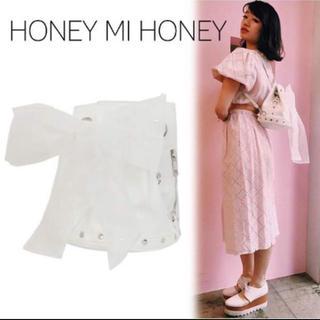 ハニーミーハニー(Honey mi Honey)のハニーミーハニー オーガンジーリボンバッグ(リュック/バックパック)