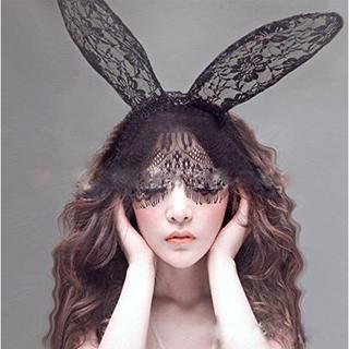 【ハロウィン特集】 【VICTORIA】うさ耳マスク (その他)