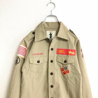 アベイシングエイプ(A BATHING APE)の90年代 A BATHING APE bape ボーイスカウトシャツ ミリタリー(シャツ)