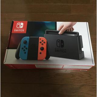 ニンテンドースイッチ(Nintendo Switch)の【美品】ニンテンドースイッチ ネオンブルー 本体(家庭用ゲーム本体)