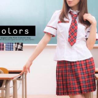 【美品♡】赤色のチェック柄 制服♡(衣装)