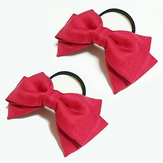 「ラブライブ!」矢澤にこ 赤色リボン 2個 髪飾り コスプレ衣装小物 赤(アクセサリー)